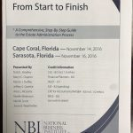 seminar title Estate Administration From Start to Finish in Sarasota Florida
