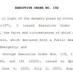 Executive Order No. 192